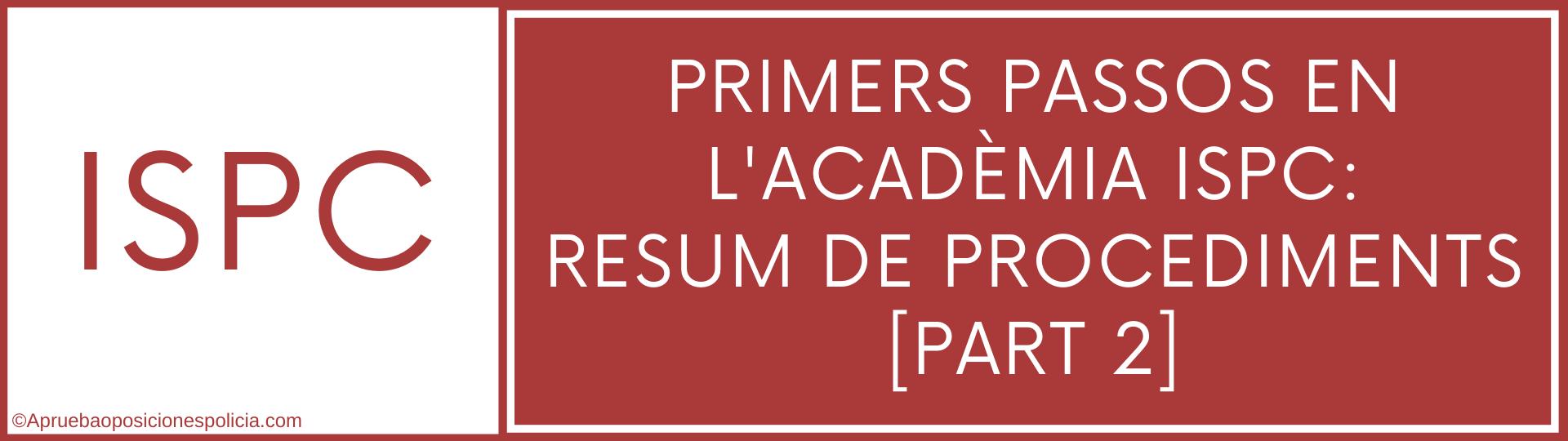 Academia ISPC procediments 2 EPC