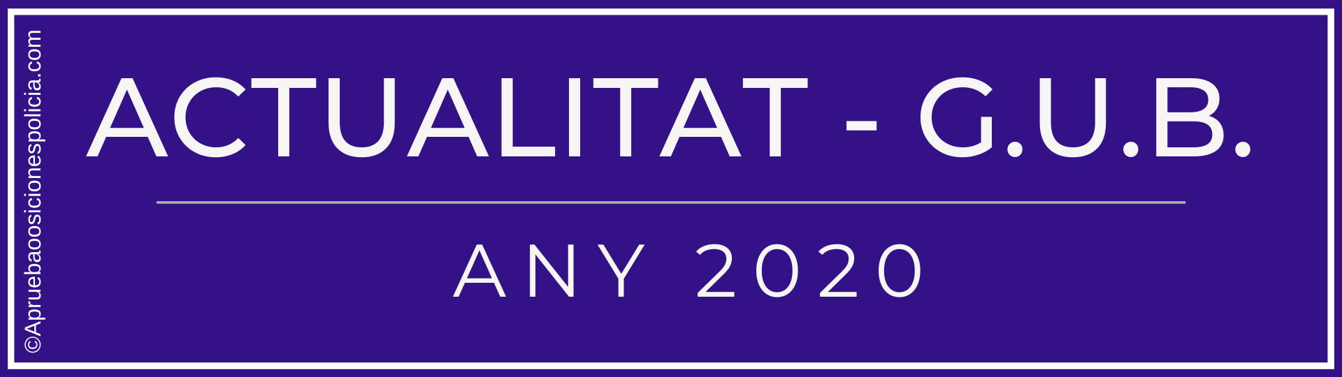Actualidad Guardia Urbana Barcelona 2020