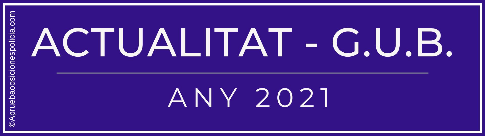 Actualidad Guardia Urbana Barcelona 2021