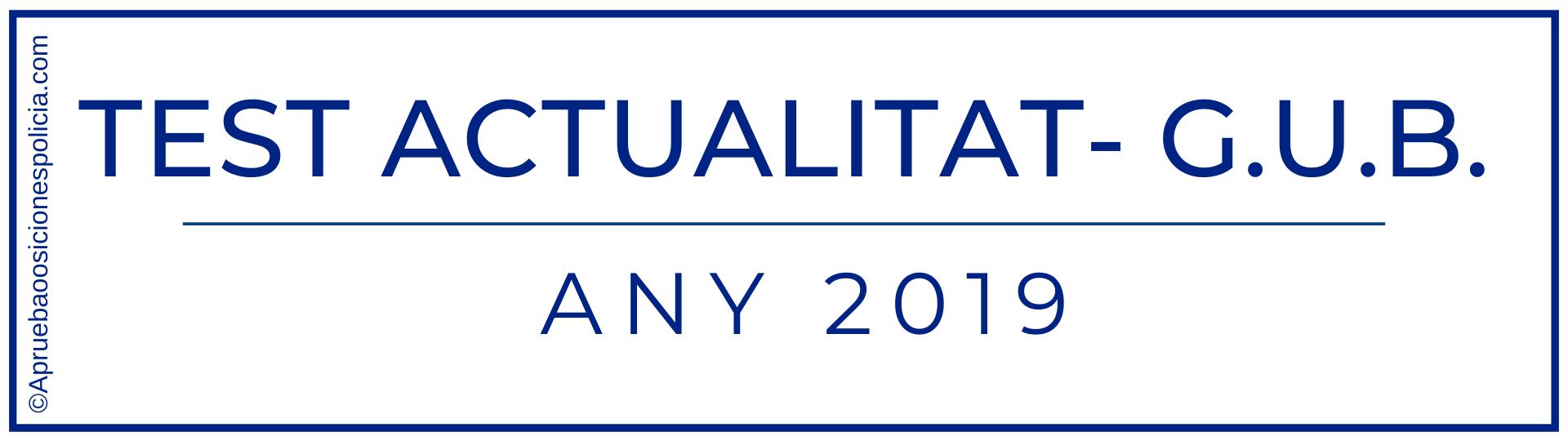 Test 2019 Actualidad Guardia Urbana Barcelona