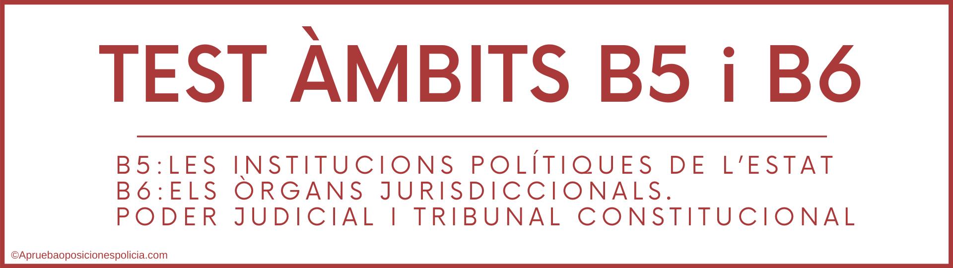 Test b5 y b6 Mossos institucions politiques estat i organs jurisdiccionals tribunal constitucional