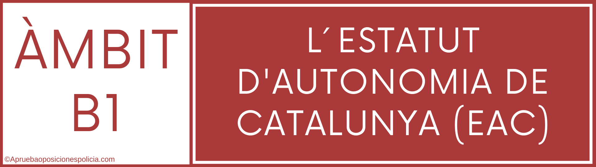 tema B1 Estatut Autonomia Cataluña