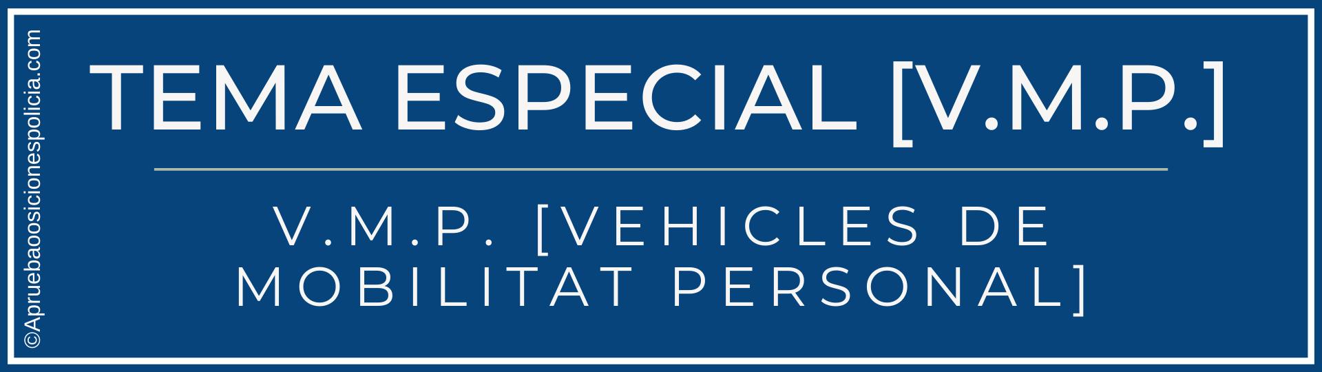 vehículos movilidad especial VMP